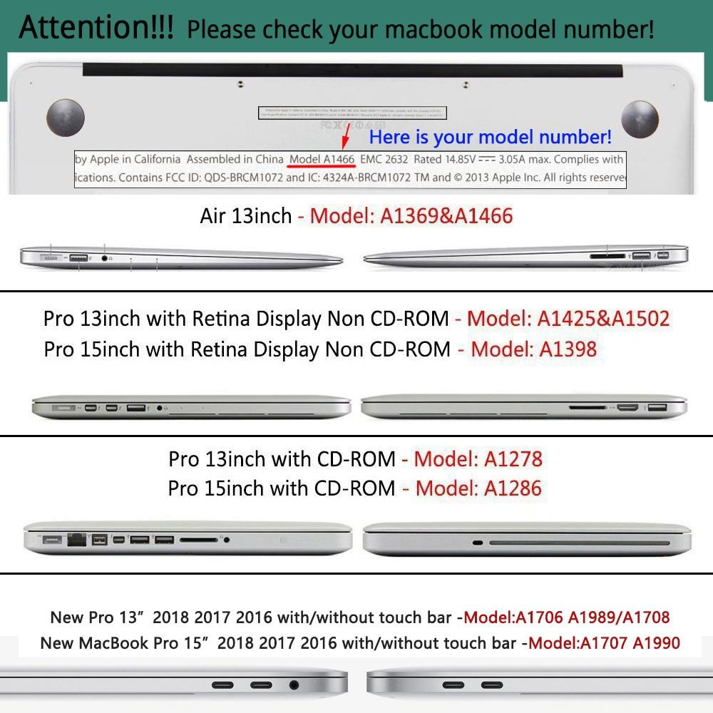 För ny MacBook Pro Air Retina 13 15 Case 2018 med Touch Bar & - Laptop-tillbehör - Foto 6
