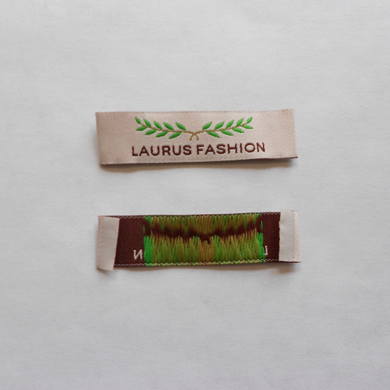 L 13 pcs each SIZE TAGS S XL 50 pcs GREEN WOVEN CLOTHING LABELS M