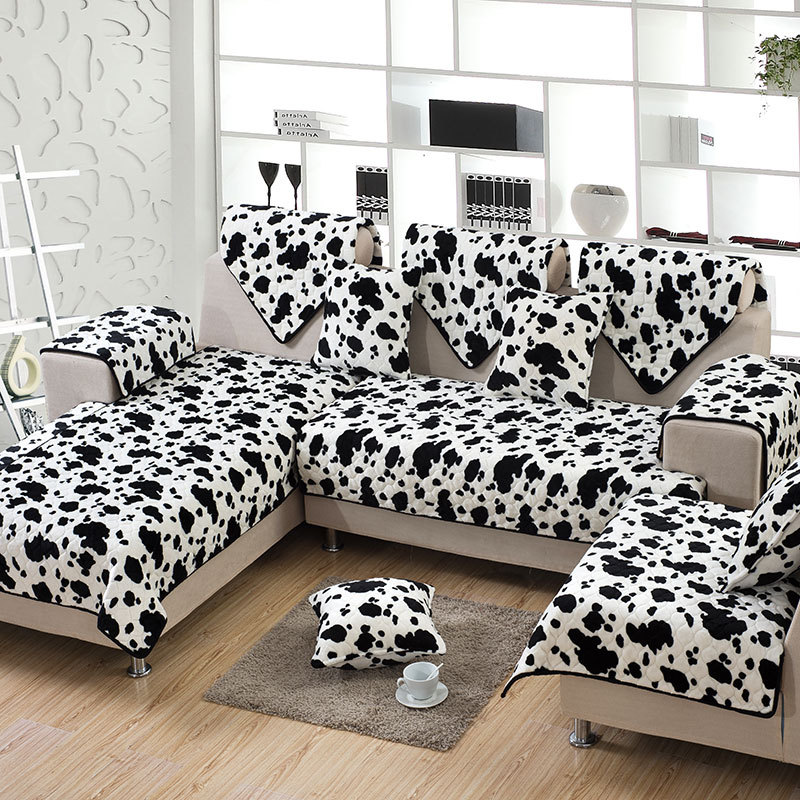 Zebra Flannel 2 4 3 Seat Sofa Slipcover Sectional Fabric Sure Fit