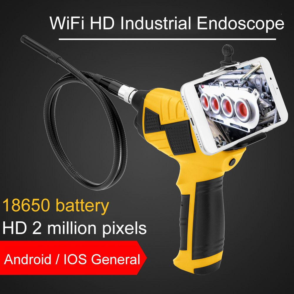 Industrial Wifi Endoscope 1080P Inspection Camera Android iOS Endoscope Auto Repair Tool Snake Hard Handheld Endoscope