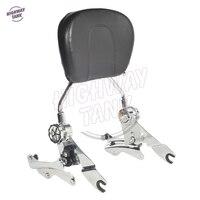 Motorcycle Passenger Backrest Sissy Bar 4 Point Docking Kit For Harley Road King Glide CVO FLHR