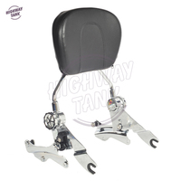 Motorcycle Passenger Backrest Sissy Bar 4 Point Docking Kit For Harley Road King Glide CVO FLHR