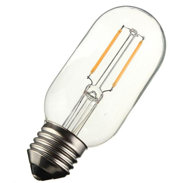 LED Light Bulb E27/E26 T45 2W 4W 6W 8W COB Retro Vintage Edison Lamp Filament Tubular Light Bulb Dimmable Warm White 110/220V