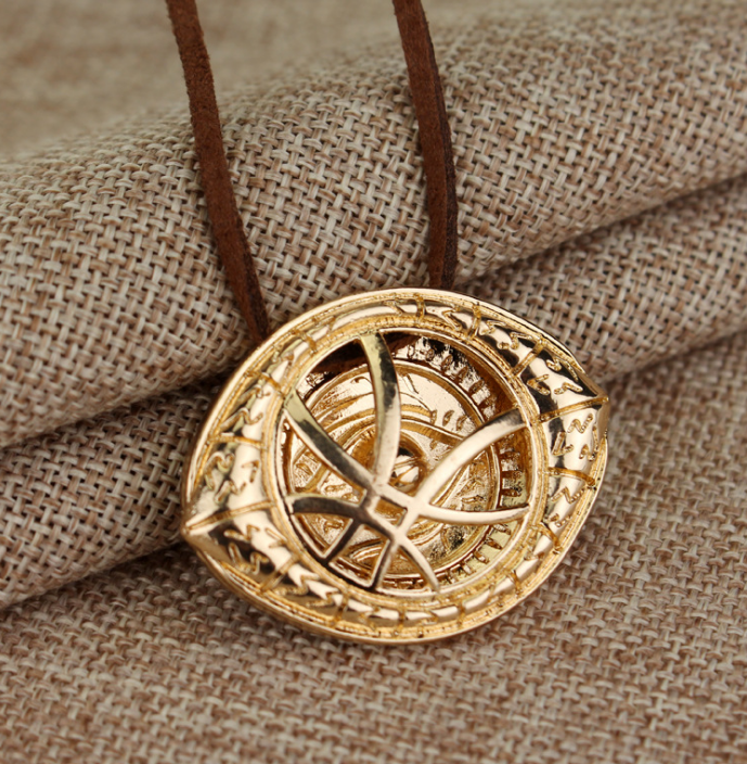 1pcs hot sell fantasy film doctor strange necklaces pendants vintage 1pcs hot sell fantasy film doctor strange necklaces pendants vintage drrange eye pendant leather chain choker necklace in pendant necklaces from jewelry aloadofball Image collections