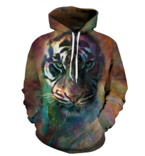2016 Autumn and winter New fashion Sweatshirt Animal 3D print tiger Hoodies Tiger head harajuku casual pullover hoodies