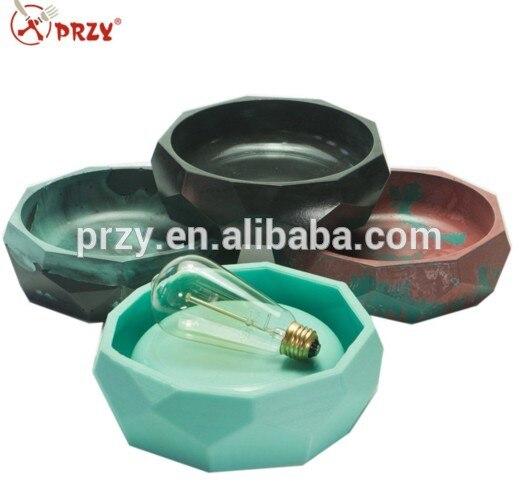 Molde de silicone de concreto de cimento Reutilizável Molde 3d moldes De Silicone forma Geométrica flowerpot moldes plantador vaso molde moldes S5309