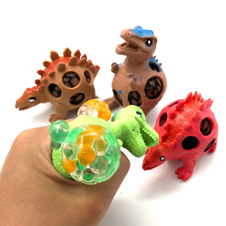 Dinosaur Grape Ball Tennis Squeeze Decompression Children Toy Beads Dinosaur Squeeze Adult Vent Ball Style Color Random