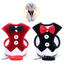 Pet Harnesses Leash Chest Belt Collar Traction Rope For Dogs Breathable Dog Multi-Style Dress Bow Vest Pet Clothes(China)