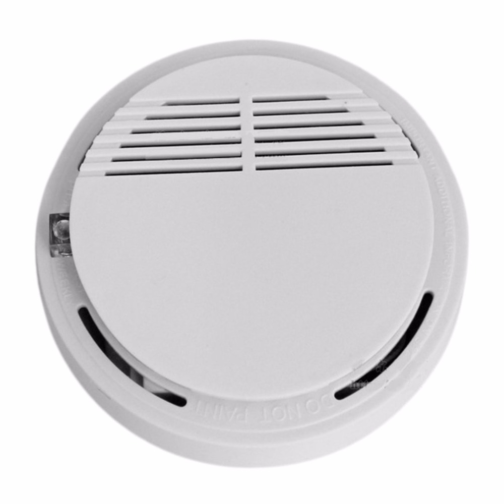Independent Type High Sensitive Photoelectric Smoking Detector Alarm Fire Smoke Sensor For Home Security With Battery battery powered photoelectric smoke alarm independent smoke detector single station type smoke detector