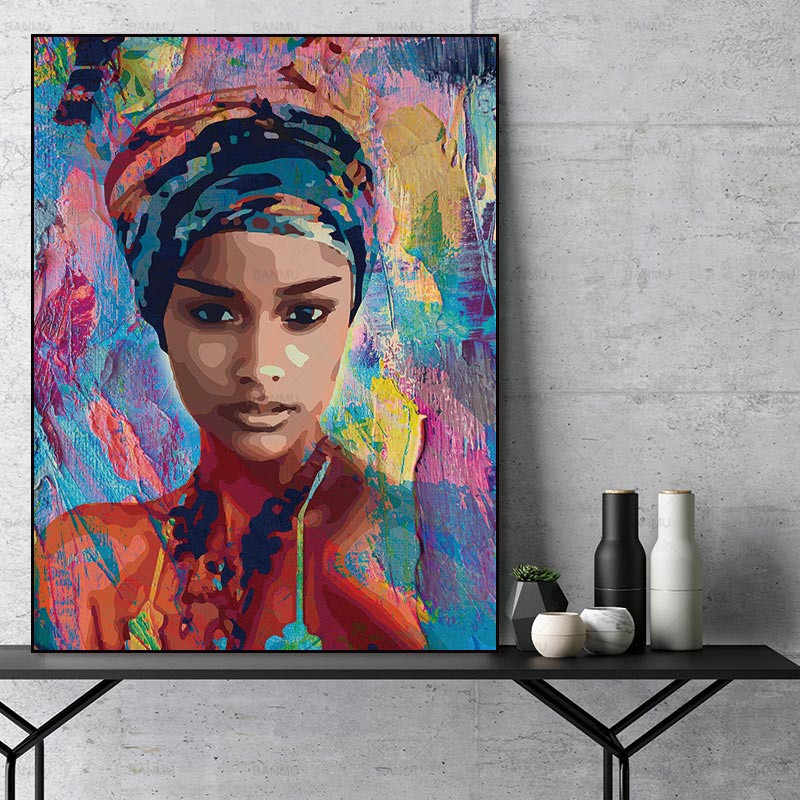Wall art Paintings for wall Pictures abstract  figure painting art  prints poster home decoration for living room portrait art