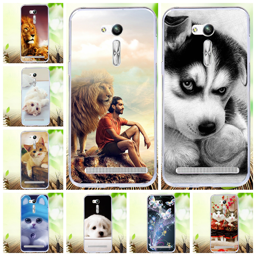 Lamocase Floral Cartoon Phone Case For <font><b>Asus</b></font> <font><b>Zenfone</b></font> GO ZB552KL Cover For <font><b>Zenfone</b></font> GO ZB552KL <font><b>X007D</b></font> 5.5 inch Soft Back Case Covers image