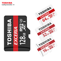 TOSHIBA U3 Memory Card 128GB 64GB SDXC Max UP 90MB/s Micro SD Card SDHC-I 32GB 16G U1 Class10  Official Verification