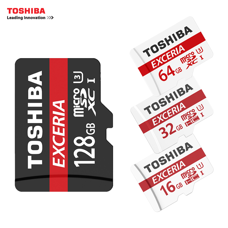 TOSHIBA U3 Memory Card 128GB 64GB SDXC Max UP 90MB/s Micro SD Card SDHC-I 32GB 16G U1 Class10 Official Verification