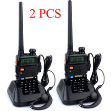 2pcs baofeng UV-5R Plus Dual Band Vhf Uhf 136-174/400-520MHz Two way Walkie Talkie Radio Maximum Range 5km-10km 7.4V 1800mah