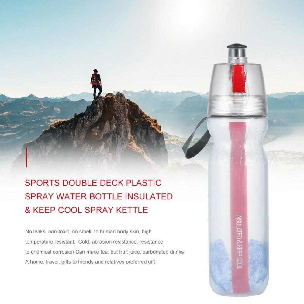 Спортивные двухслойная спрей бутылку воды Портативный распыления Бутылочки Открытый Спор ...
