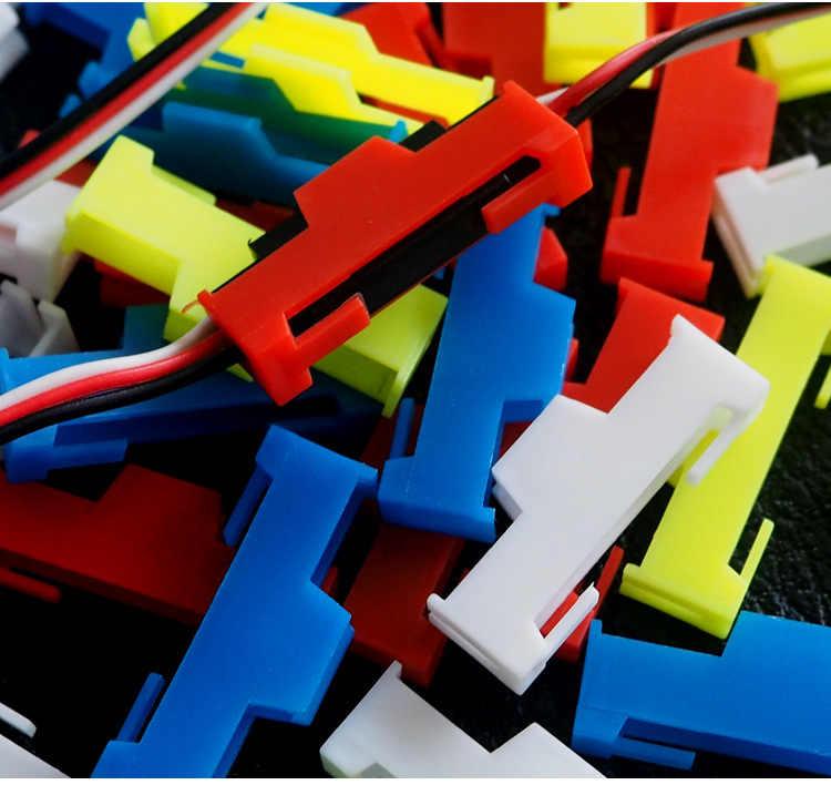 50 unids/lote Servo extensión Cable hebilla Clip plástico Servos cuerda de sujeción Jointer Plugs soporte de fijación para DIY RC piezas de avión