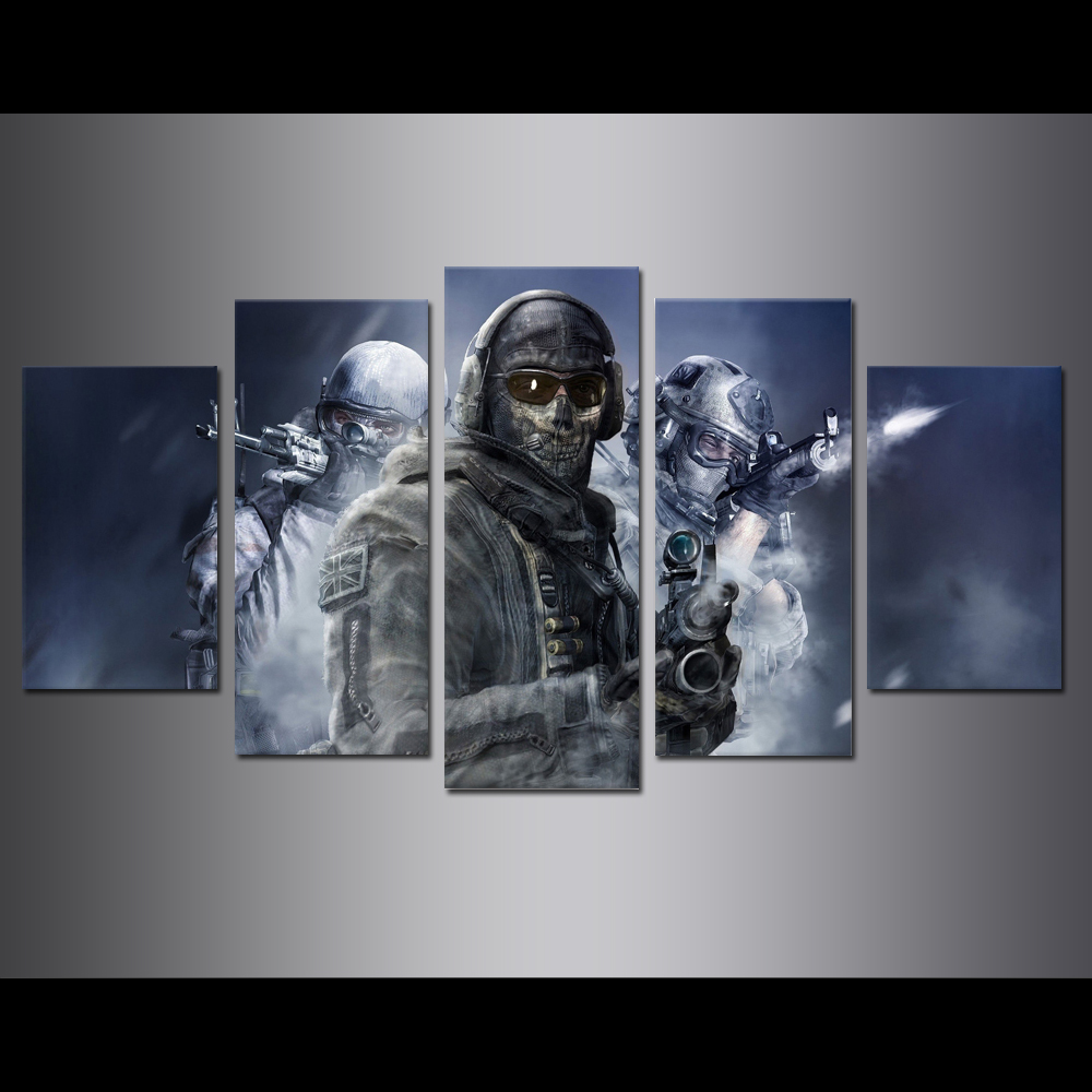 Unframed Canvas Painting Call Duty Soldier Game Poster Modular Picture Prints Pictures For Living Room Wall Art Decoration