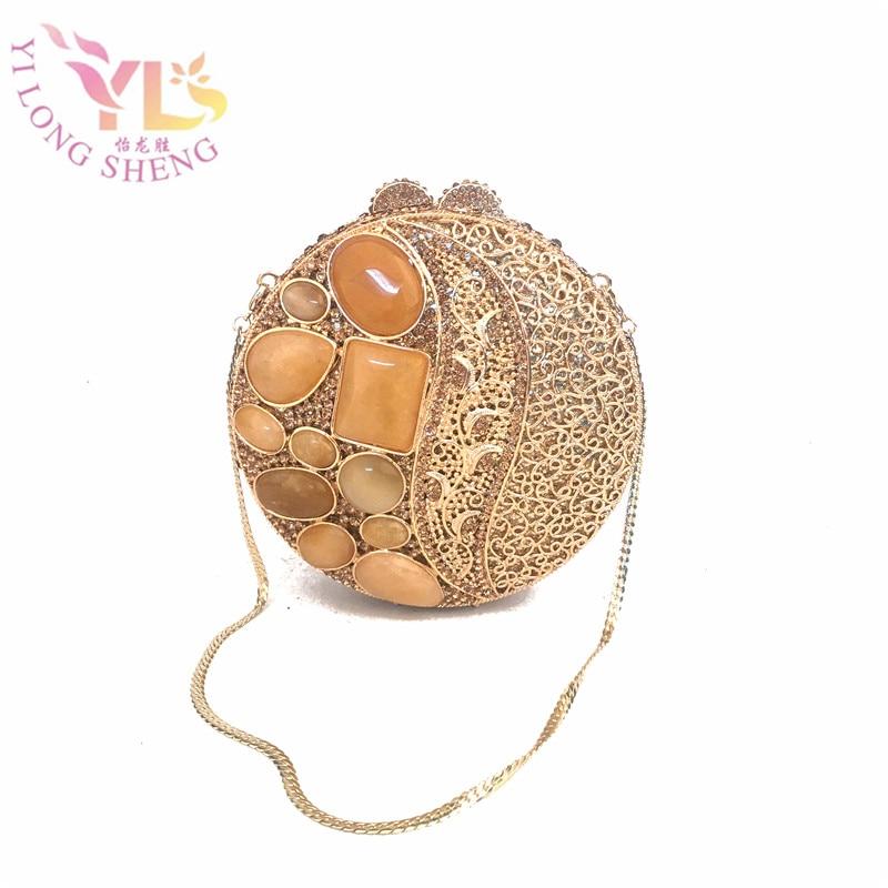 Women Delicate Gold Ball Evening Handbags Clutches Purse NEW Designer Evening Clutches Shoulder Bag Crossbody Bag YLS-J07 сахарница 400мл сакура j07 ky027g 1277349