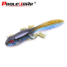 6Pcs Jig Wobbler Soft Bait Floating water Worm Fishing Lure 80mm 3.5g salt odor Attractive Silicone Swimbait Bass Fishing Tackle
