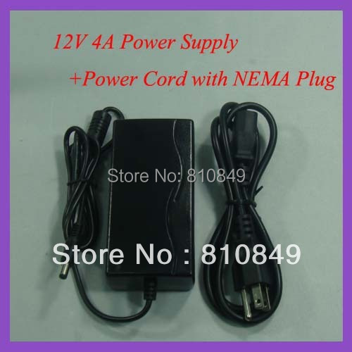 12V 4A  DC power supply  Power adapter for LCD moinitor 12V Power supply