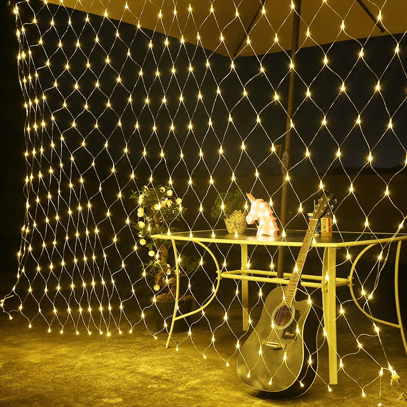 6*4m LED Fishing net shape string light holiday Patio Christmas Wedding decoration Waterproof outdoor light garland Decoration