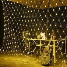 6*4m LED Fishing net shape string light holiday Patio Christmas Wedding decoration  Waterproof outdoor light garland Decoration