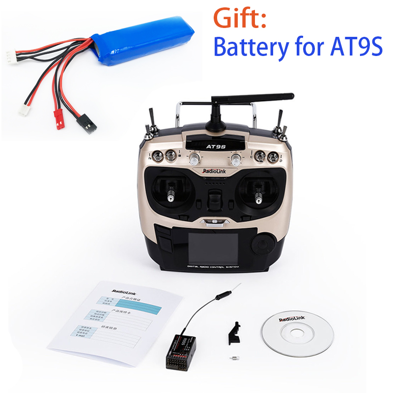 Radiolink AT9S R9DS Radio Remote Control System DSSS FHSS 2 4G 10CH Transmitter Receiver for Rc