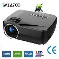 WZATCO GP70up Android 4.4 WiFi Bluetooth Smart hd projetor jogo projetor Portátil Mini LED LCD home theater Proyector Projetor