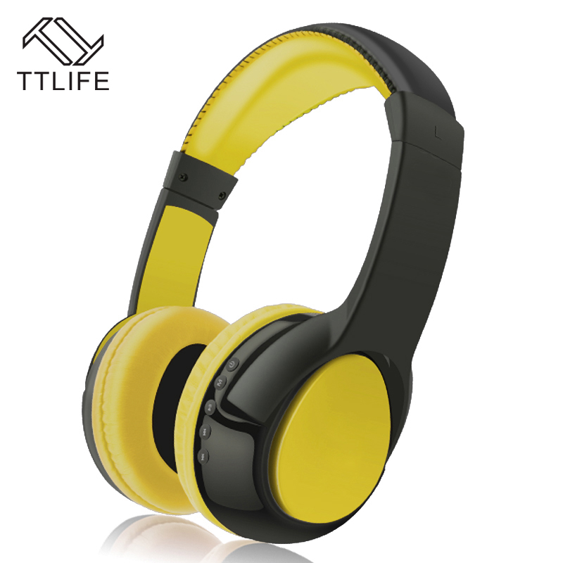 TTLIFE Brand S99 Support TF Card Headset Noise Reduction Headphones Wireless Bluetooth Stereo Earphone With Mic For Mobile Phone