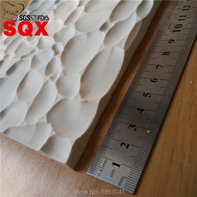 SQX Stone Texture Line Cake Border Silicone Fondant Cake Decorating Tools Cake Gumpaste Chocolate Kitchen Baking Moulds SQ16369