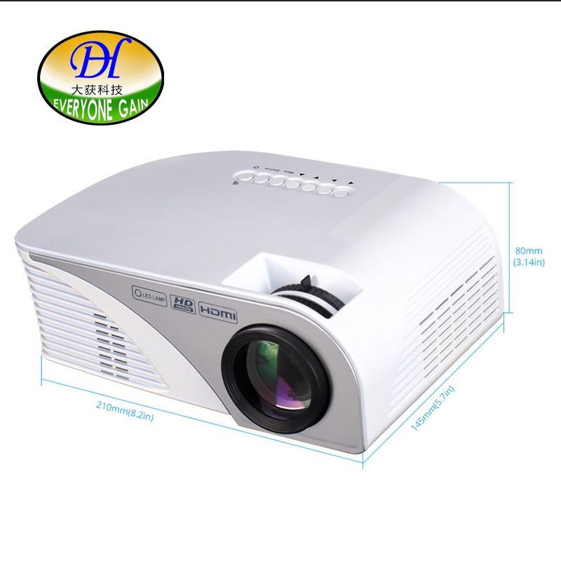 Everyone Gain Mini Pico Portable 3D Projector HDMI Home Theater Beamer Multimedia Projector Full HD 1080P Video Mini321 2015 newest original mini pico portable full hd 3d projector hdmi home theater beamer multimedia proyector full hd 1080p video