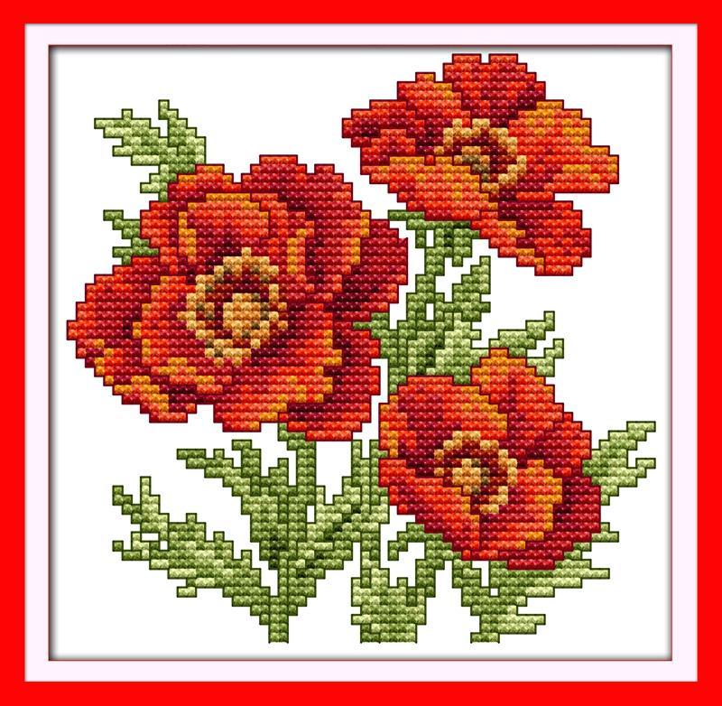 Cross Stitch Patterns Paintings Flower Of Happiness Diy Dmc