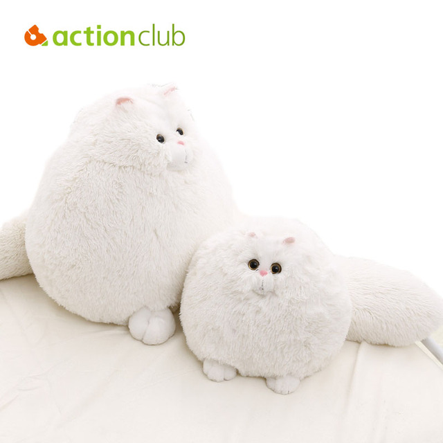 Cartoon Baby Toys 1PC 30cm Fat Cat Plush Toy White Kids Dolls Animal Home Decor Birthday Gift For Kids Children Toy Stuffed Doll