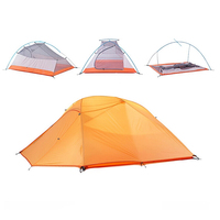Outdoor Camping 4 Season Folding Tent Double Layer Waterproof Portable For 3 Person Free Shipping