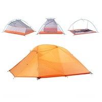Ngoài trời Lều Cắm Trại 3 Người 4 Mùa Hai Lớp Gấp Lều Chống Thấm Nước Di Vận Chuyển Miễn Phí