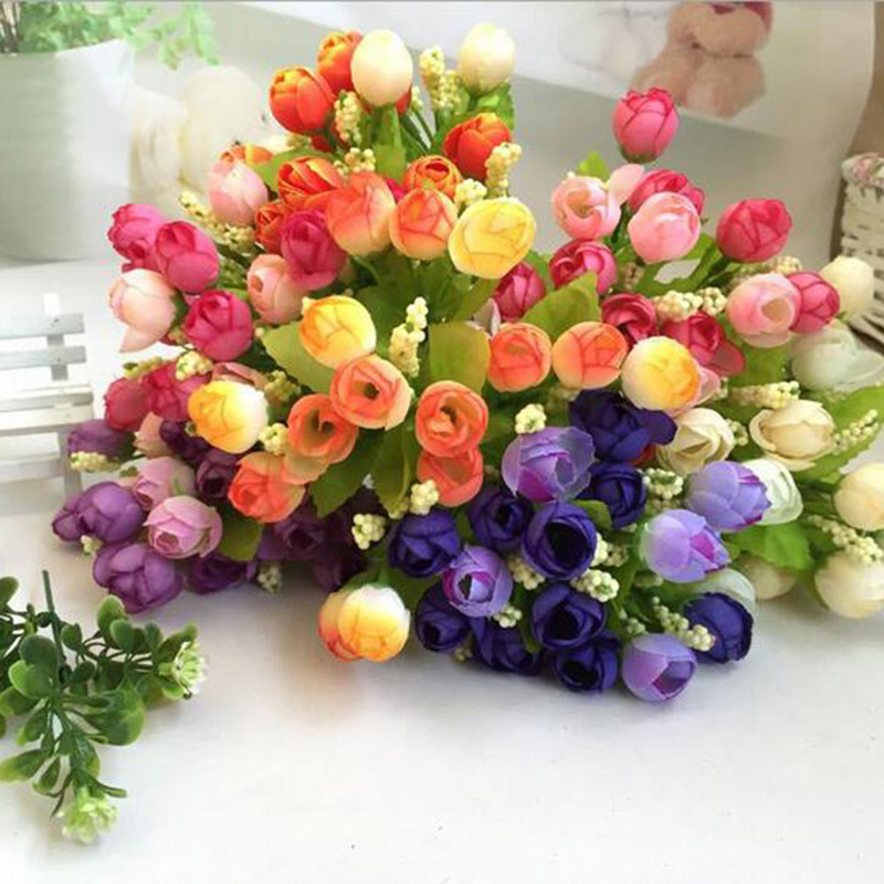 20 stücke Künstliche schaum rose Knospe Handgemachte DIY Blüte mini rosen für Bouquet Geschenk Box Scrapbooking Handwerk Hochzeit Blumen decor