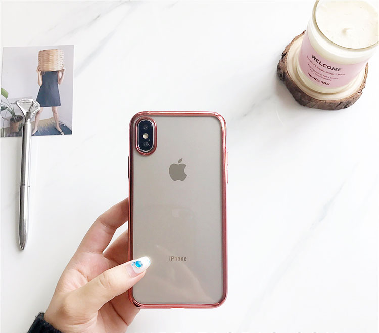 Luxury Soft TPU Cases For iPhone 11 Pro XR 8 8Plus 7 7Plus 6 6s Plus Transparent Plating Shining case For iPhone X XS MAX Case