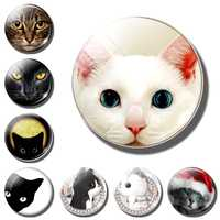 Cute cat decorative refrigerator magnets lovely animal Lucky pet Couple cat 30MM fridge magnet cat message board Home Decoration