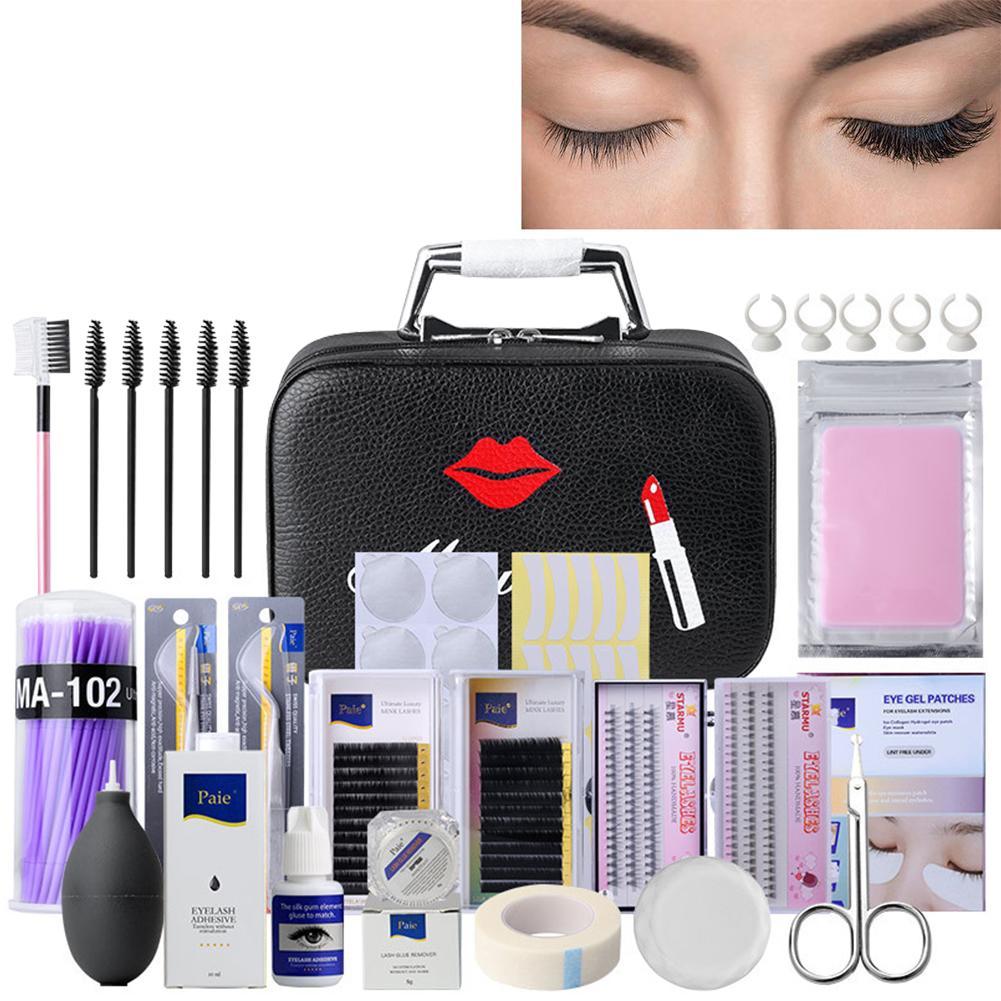 22PCS False Eyelashes Extension Practice Exercise Set Professional Head Model Lip Makeup Eyelash Grafting Training Tool Kit