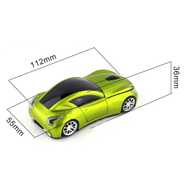 Pro Gaming Mouse 1600DPI Infiniti Sports Car Mouse Wireless 2.4GHz USB Computer Mice Gift drop ship