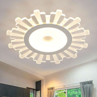 Surface Mounted Modern Led Ceiling Lights For Living Room Light Fixture Remote Control Dimming Brightness Acrylic