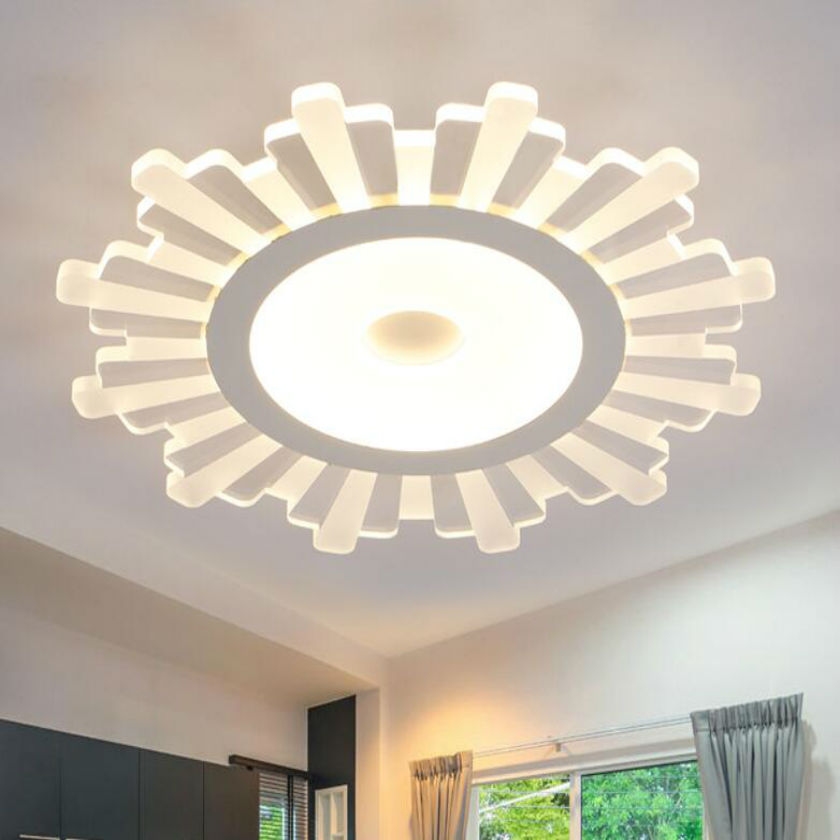 Surface Mounted Modern Led Ceiling Lights For Living Room Light Fixture remote control dimming brightness acrylic led lampshade