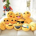 32 cm Emoji Smiley Plush Toy Doll 12Styles Soft Yellow Emoticon Round Cushion Stuffed Emoji Cottom Pillow Christmas Gift Cushion