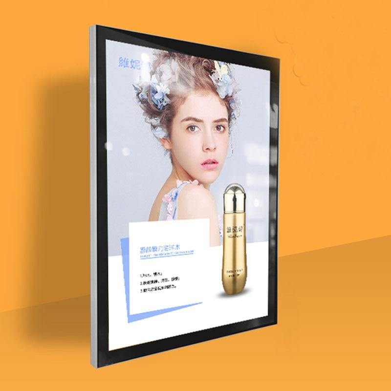 40x60cm Ultra Slim Aluminum Magnetic Frame Led Light Pockets,Magnetic Front Panel Menu Led Light Box