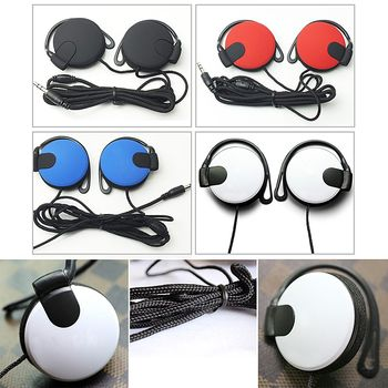 Ear Hook Type Mega Bass Earphone Headphone Headset, Metal, Thick String Wire, For 3.5mm PC Mobile Phone MP3MP4 Wholesale