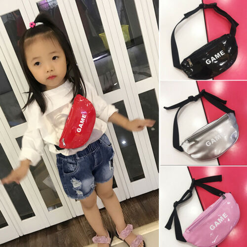 Bright Leather Waist Bag New Arrival Children Chest Handbag Unisex Letter Fanny Pack Kids Waist Pack Belly Bags Toy Pouch