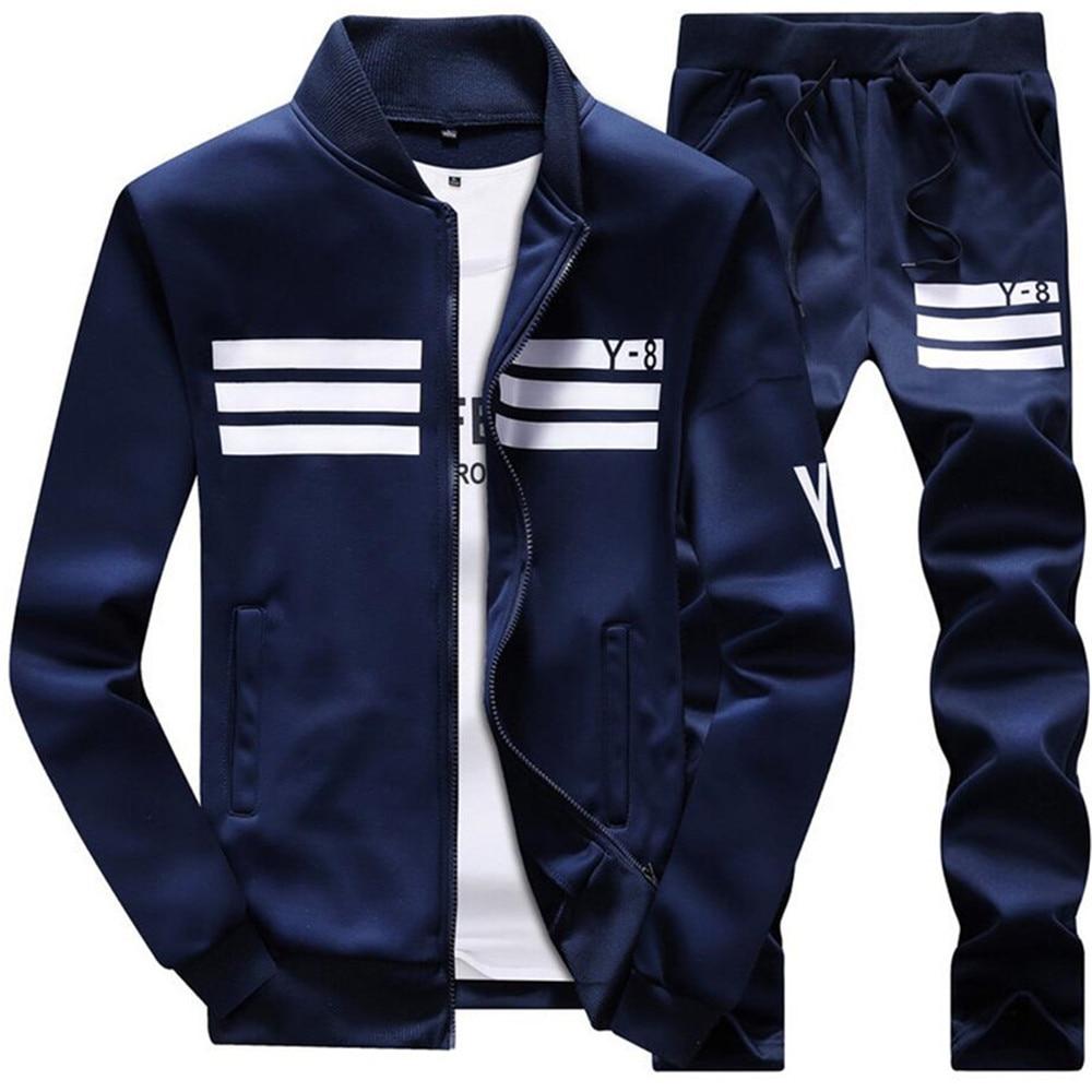 New Spring Autumn Men's Sporting Suit Set Male Tracksuit Men Clothing Set Casual Sweatshirts Sportswear  5XL,6XL,7XL,8XL,9XL
