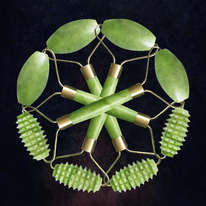 Nouveau Naturel jade rouleau Beauté Du Visage visage masseur Outil Visage Mince massageador Naturel Jade De Massage Lifting Outils soins de la peau