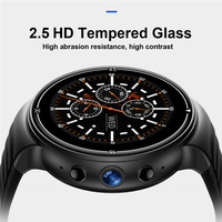 OGEDA I8 Men sport smart watch Android 7.0 4G LTE 1G+16G memory support SIM WIFI GPS heart rate 2MP camera 2.5 HD Tempered Glass