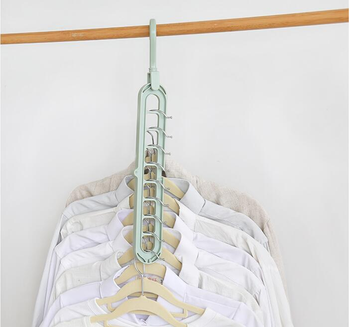 10PCS multi functional clothes rack for drying household balcony kitchen cabinet hanging clothes rack clothes support in Storage Holders Racks from Home Garden